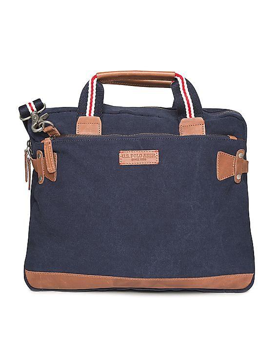 a54b71aa6b Buy Men Contrast Trim Canvas Messenger Bag online at NNNOW.com