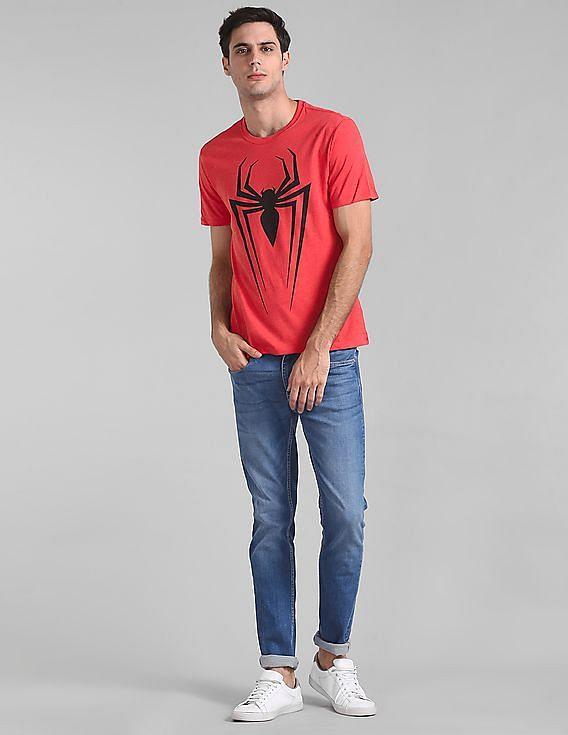 e2a4c302b7488 Buy Men 000000039719194600 Red Heather Mens T-Shirt online at NNNOW.com