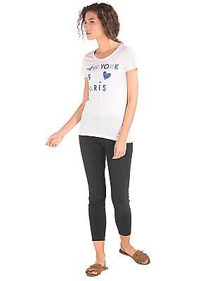 GAP Women Black Mid Rise Zip Pocket True Skinny Ankle Jeans