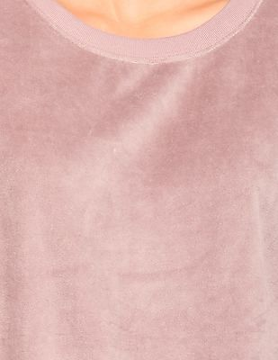 Aeropostale Solid Brushed Sweatshirt