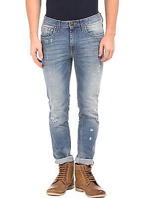 Ed Hardy Super Slim Distressed Jeans
