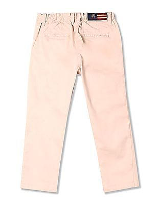U.S. Polo Assn. Kids Girls Pleated Front Cropped Trousers