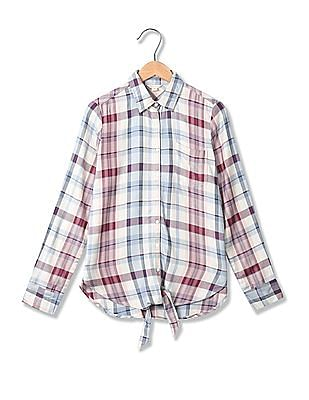 Aeropostale Spread Collar Check Shirt