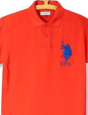 U.S. Polo Assn. Kids Boys Piqued Cotton Polo Shirt