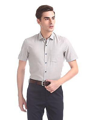 Arrow Newyork Slim Fit Short Sleeve Shirt