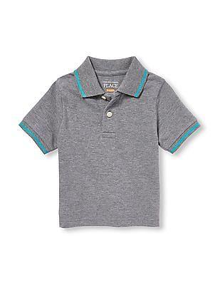 The Children's Place Toddler Boy Short Sleeve Pique Polo