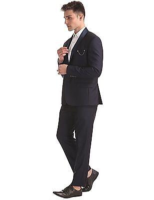 Arrow Shawl Collar Jacquard Suit