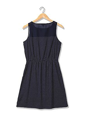 U.S. Polo Assn. Women Printed Fit And Flare Dress