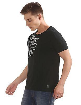 Flying Machine Tucked Sleeve Slim Fit T-Shirt