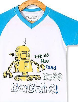 Day 2 Day Boys V-Neck Printed T-Shirt