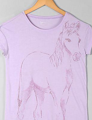 GAP Girls Purple Graphic Nightgown