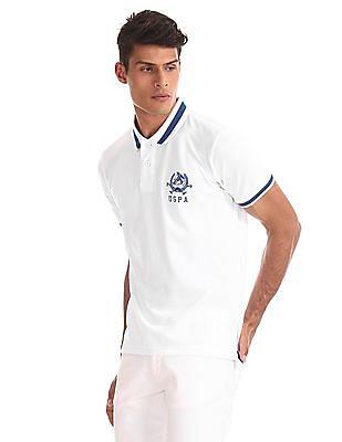 U.S. Polo Assn. White Cotton Pique Polo Shirt