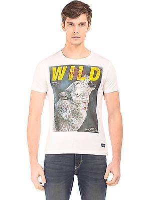 Flying Machine Graphic Print Slim Fit T-Shirt