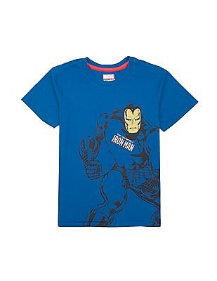 FM Boys Boys Iron Man Print T-Shirt And Joggers Set