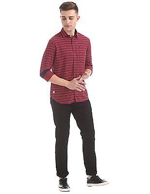 Ed Hardy Slim Fit Striped Shirt