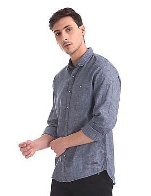 Cherokee Long Sleeve Heathered Shirt
