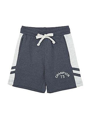 Cherokee Boys Contrast Panel Melange Shorts