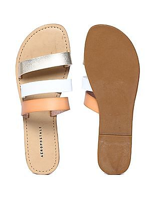 Aeropostale Triple Strap Slip On Sandals