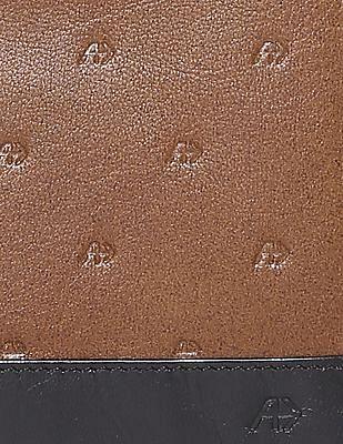 Arrow Colour Block Textured Wallet