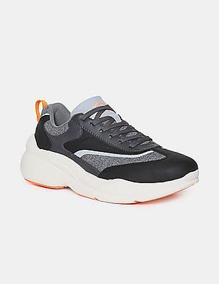 Flying Machine Black Colour Block Low Top Sneakers