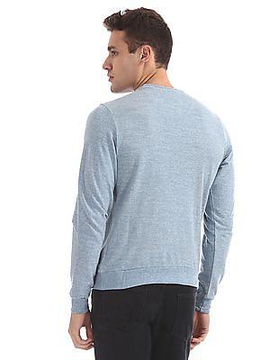 Flying Machine Slim Fit Heathered Sweatshirt