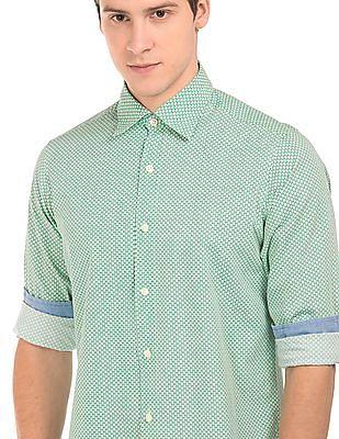 Nautica Classic Fit Printed Shirt