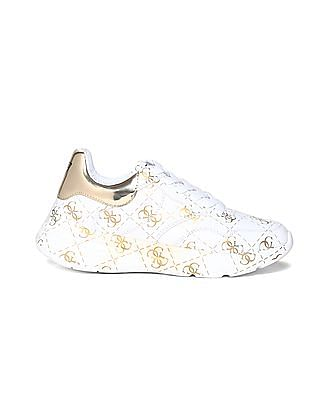 GUESS Brand Print Mid Top Sneakers