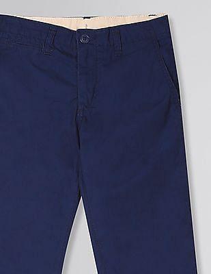 GAP Boys Blue Jersey-Lined Straight Khakis