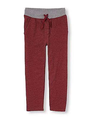 The Children's Place Boys Red Active Utility Sweatpants