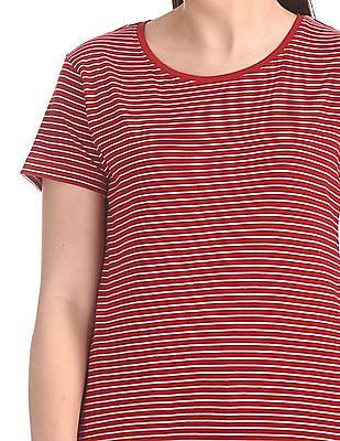 SUGR Round Neck Striped T-Shirt