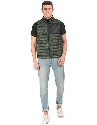 Aeropostale Printed Gilet jacket