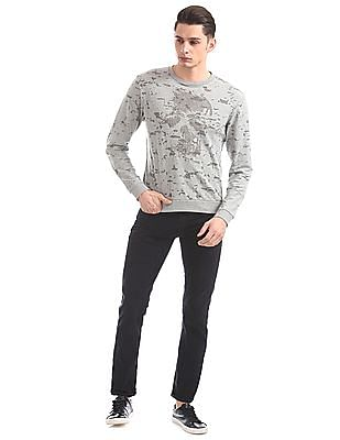 Ed Hardy Slim Fit Printed Sweatshirt
