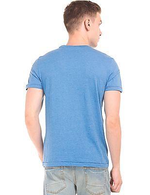 Aeropostale Printed Heathered T-Shirt