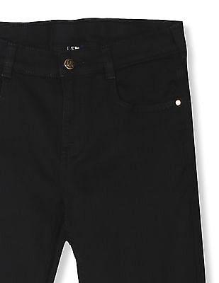 FM Boys Black Boys Solid Skinny Fit Jeans
