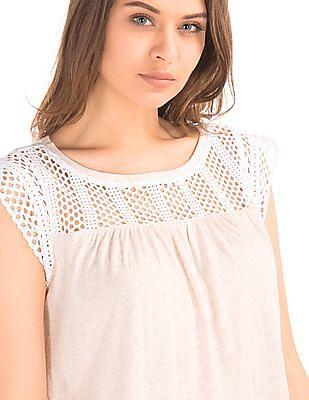 GAP Crochet Lace Top