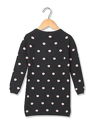 U.S. Polo Assn. Kids Girls Drawstring Waist Sweater Dress