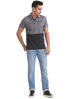 Arrow Newyork Regular Fit Colour Block Polo Shirt