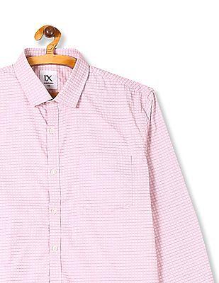 Excalibur Pink Patch Pocket Check Shirt