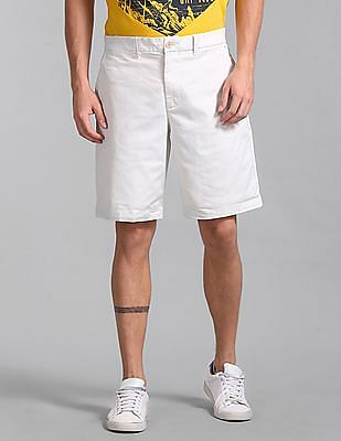 "GAP White 10"" Vintage Wash Shorts With GapFlex"