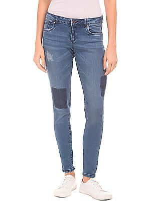 Cherokee Skinny Fit Distressed Jeans