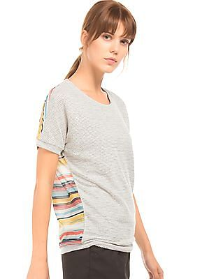 Arrow Woman Textured Stripe Back Top