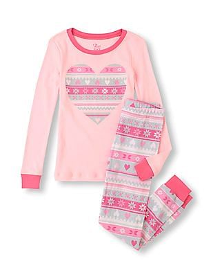 The Children's Place Girls T-Shirt And Joggers Set