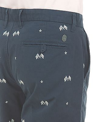 U.S. Polo Assn. Denim Co. Printed Vintage Wash Shorts
