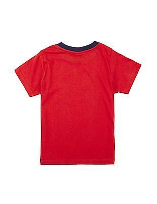 Cherokee Boys Contrast Crew Neck Printed T-Shirt