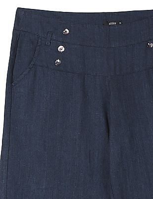 Arrow Woman Patterned Weave Linen Trousers