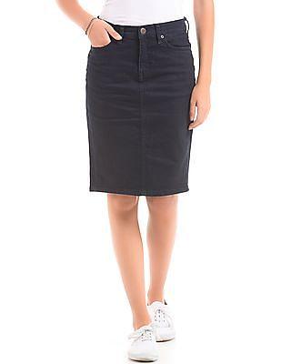 Aeropostale Panelled Denim Skirt
