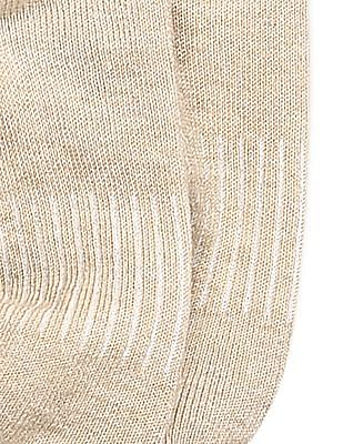 Unlimited Beige Solid No Show Socks