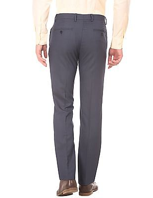 Arrow Textured Slim Fit Trousers