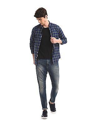 Ruggers Blue Check Cotton Shirt