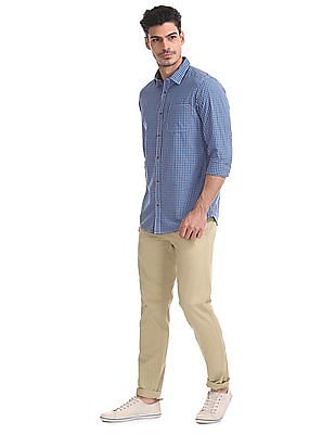 Ruggers Flat Front Solid Trousers